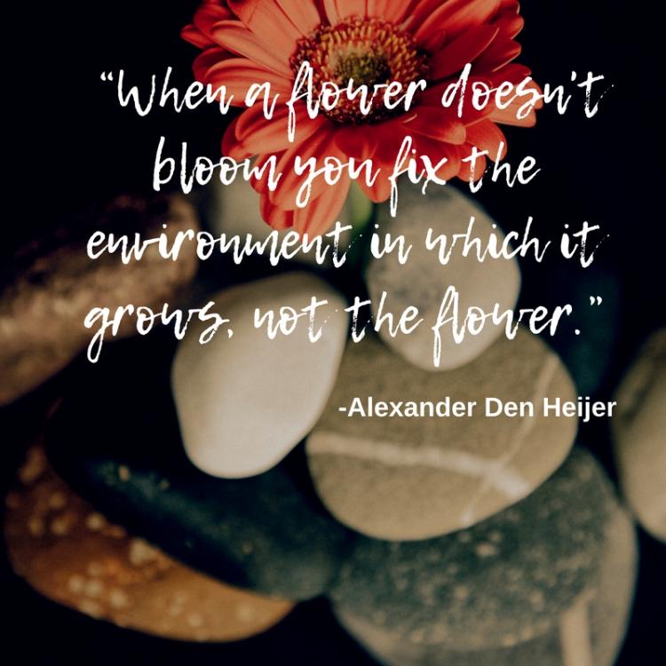 When a flower