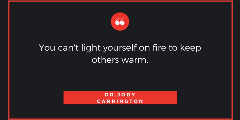 You can't light yourself on fire to keep others warm.